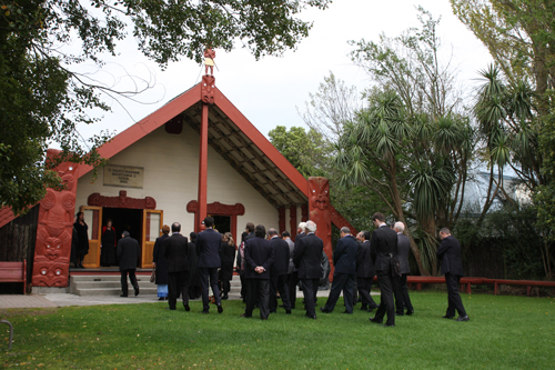 the powhiri process Page | 1 powhiri guidelines the opening ceremony for the conference will be based around a powhiri – a traditional maori ceremony for greeting and hosting visitors.